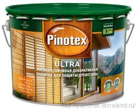 Лак-антисептик Pinotex Ultra белый 9 л