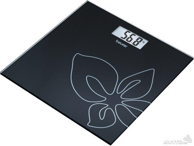 Beurer GS27 Black flowers Cтеклянные весы