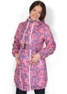 """Куртка демис. 3в1 """"Вуаля"""" розовый узор для беременных и слингоношения"""