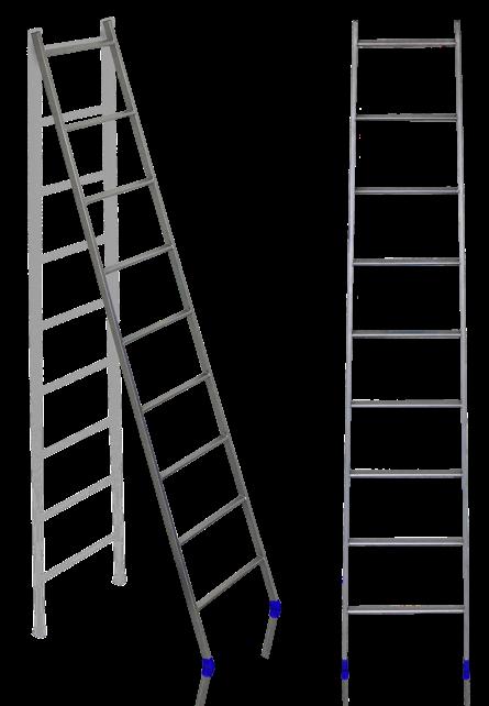 """Лестница приставная  9-ступ. """"Ника"""" 2,2 м ,6,0 кг мет.. проф. Л9"""