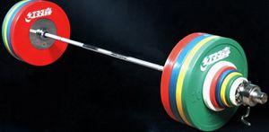 Штанга DHS Olympic для соревнований женская 185 кг аттестованная IWF.
