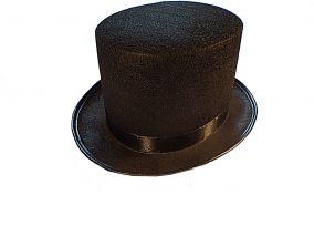 Шляпа цилиндр черного цвета
