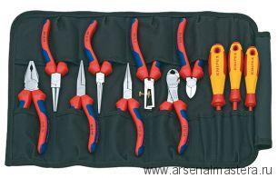 Планшет с набором инструментов из 11 предметов KNIPEX 00 19 41