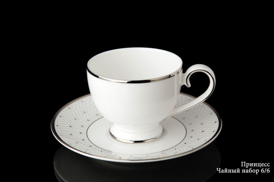 """Чайный набор на 6 персон """"Принцесс"""", 12 пр."""
