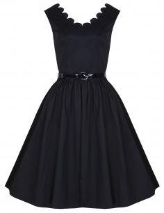 176d93e53d3 Черное классическое платье в стиле ретро