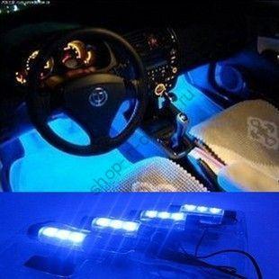 Cветодиодная подсветка пола в салоне автомобиля