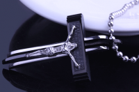 Крест Распятие из ювелирной стали 316L