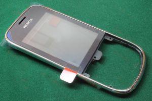 Тачскрин Nokia 202 Asha/203 Asha (silver) (в раме) Оригинал