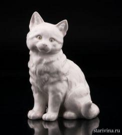 Кошка белая, Hutschenreuther, Германия.