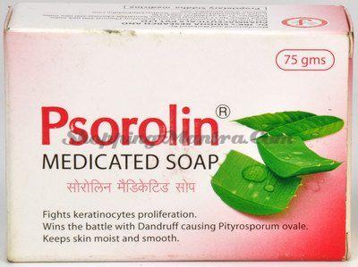 Лечебное мыло при псориазе Псоролин Dr.J.R.K'S Siddha Psorolin Medicated Bathing Bar