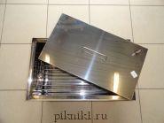 """Коптильня """"Профи"""" с гидрозамком 50*40*30 см из нержавеющей стали AISI430 2,0 мм"""