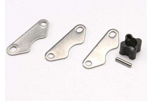Brake disc hub (for Revo rear brake kit)/ 2mm pin (1)/ brake pads (3) - TRA5565X