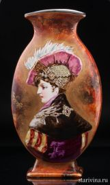 Декоративная ваза с портретом дамы, Сен-Дени, Франция, сер.19 в