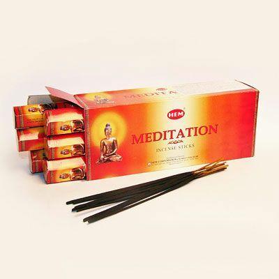 Ароматические палочки благовония HEM Hexa MEDITATION Медитация