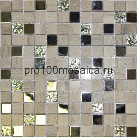 Linen Wood. Мозаика серия GLASSTONE,  размер, мм: 300*300 (ORRO Mosaic)