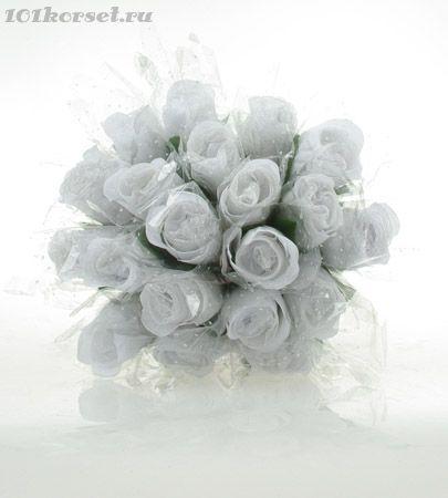 Белые трусики свернутые в виде бутона розы. Размер универсальный.