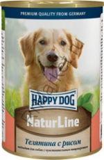 HAPPY DOG Консервы Телятина с рисом 400г