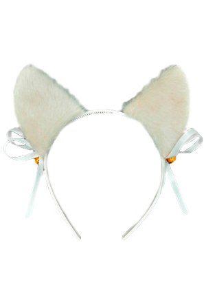 Ушки Plush белые на ободке