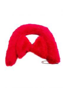Ушки на невидимках с хвостиком красные