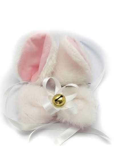 Ушки и бантик на шею белые