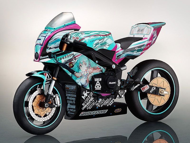 Мотоцикл для фигурок Racing Miku TT Zero 13