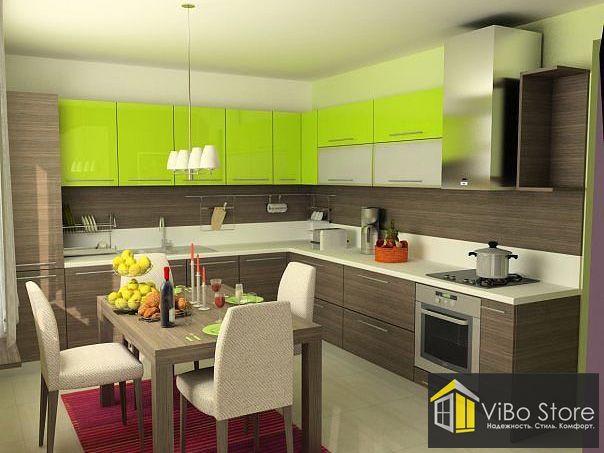 Угловая кухня в стиле модерн эконом