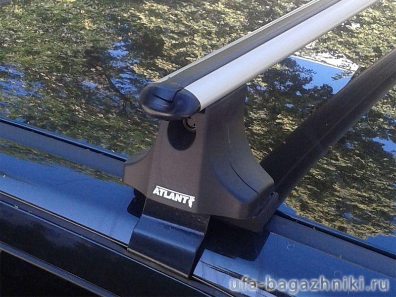 Багажник на крышу Nissan Qashqai (5-dr CUV 2007-13), Атлант, аэродинамические дуги