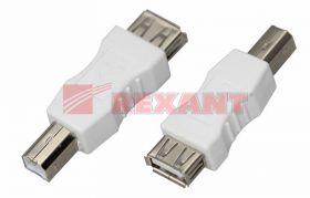 Переходник гнездо USB-A (Female) - штекер USB-B (Male) REXANT