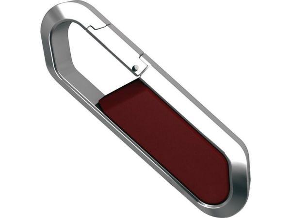 4GB USB-флэш накопитель Apexto S805 металлический карабин, красный
