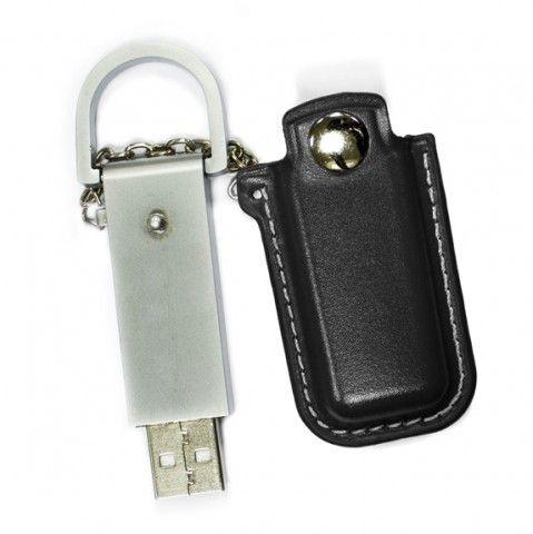4GB USB-флэш накопитель Apexto U503E гладкая черная кожа OEM
