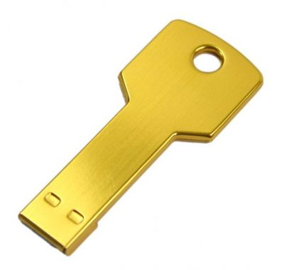 4GB USB-флэш накопитель Apexto UK-001 металлический ключ, золотой