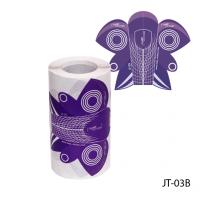 Универсальные одноразовые формы (бумажные, на клейкой основе) JT-03В, 100 штук