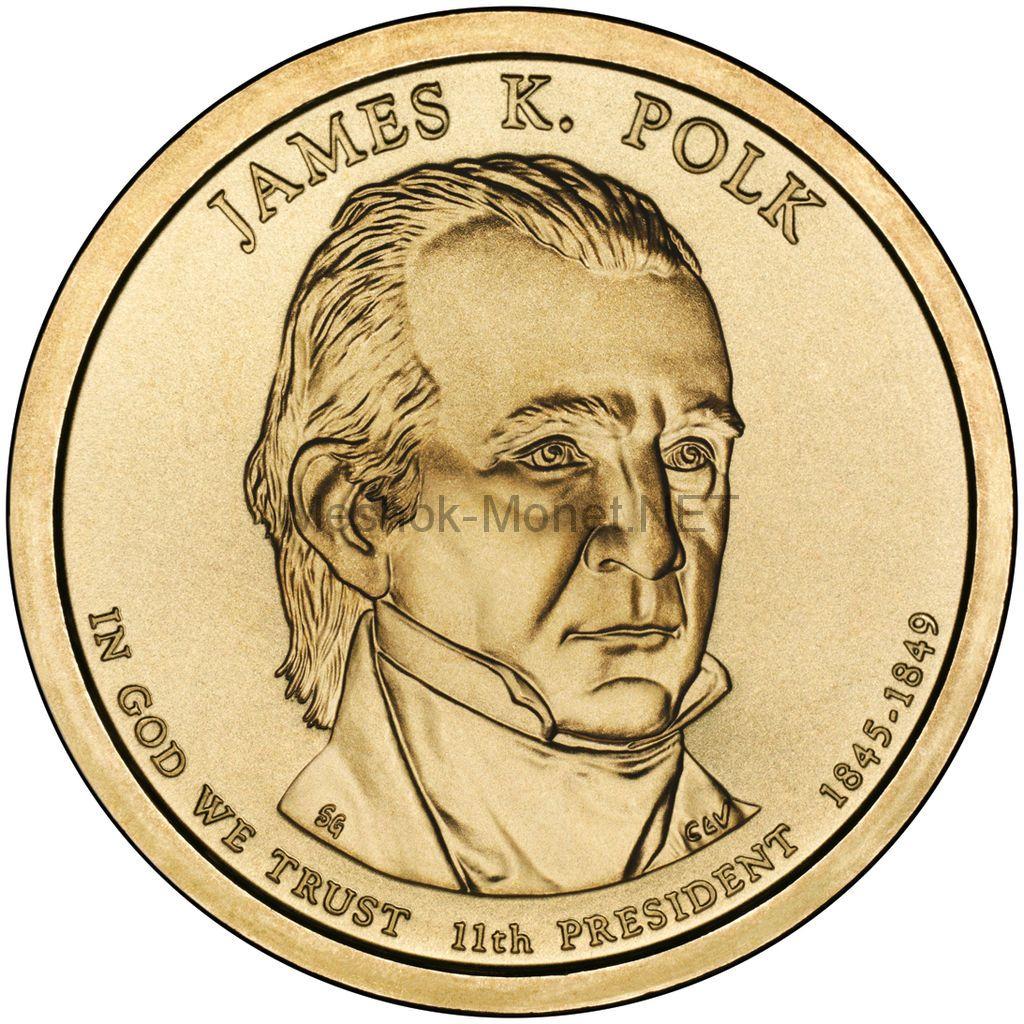 1 доллар США 2009 год Серия Президентские доллары Джеймс Полк