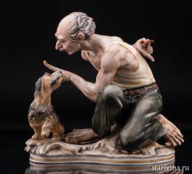Мужчина с собачкой, Дрезден, Германия., артикул 01093