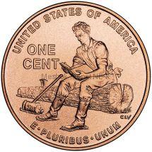 1 цент США Юность Линкольна