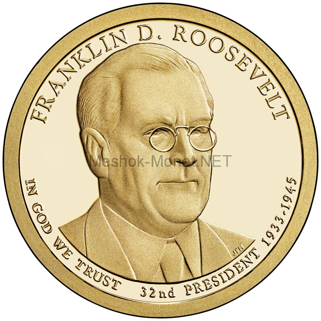 1 доллар США 2014 год Серия Президентские доллары Франклин Рузвельт