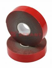 Двухсторонний скотч, красного цвета на серой основе, 20мм, 5метров REXANT