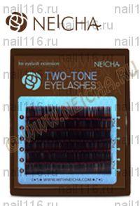 "Ресницы ""NEICHA"" MINI TWO-TONE (двухцв) ""MIX"" black-red (ч-красн) B 0,15 (09,11,13)"