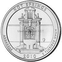 25 центов США 2010 парк Хот-Спрингс