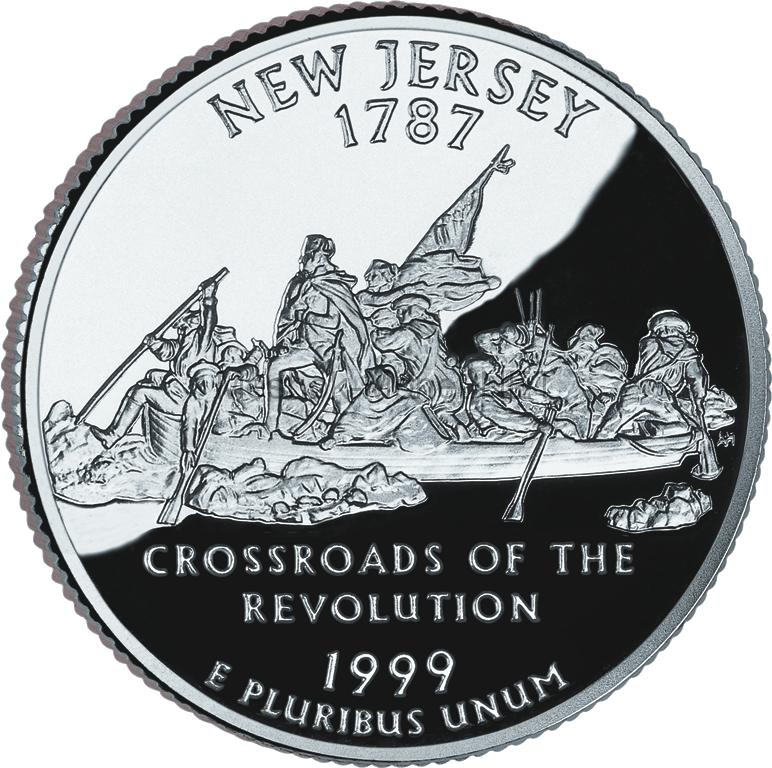 25 центов США 1999 штат Нью-Джерси