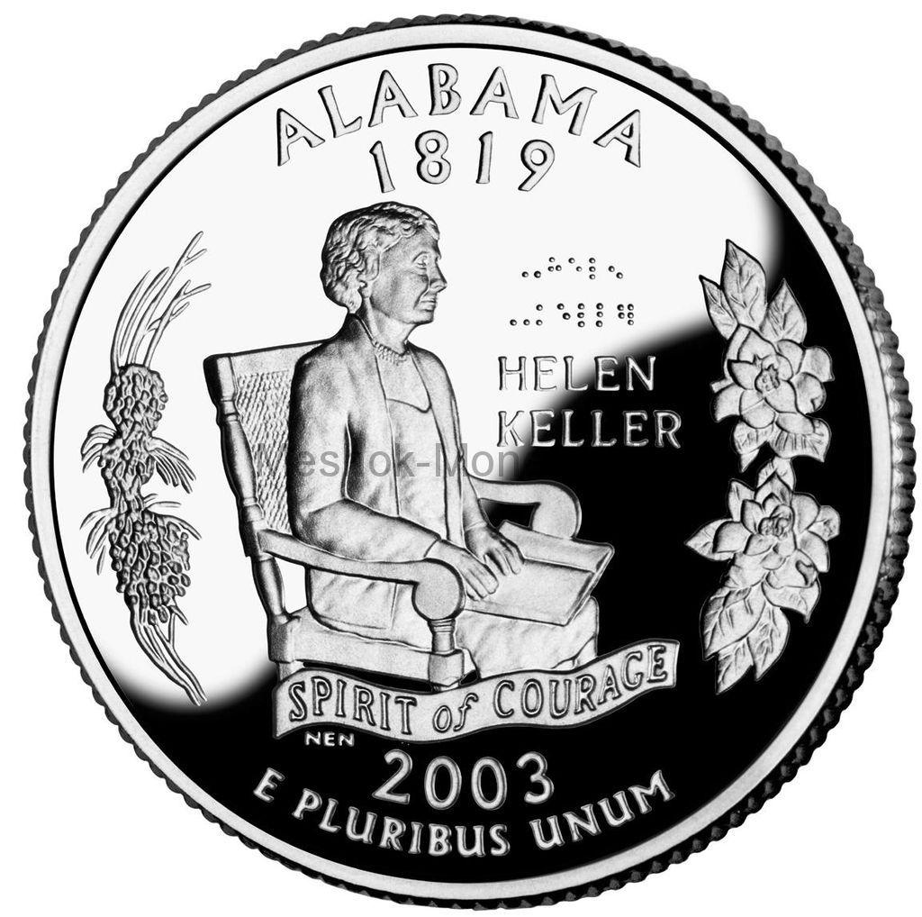 25 центов США 2003 штат Алабама