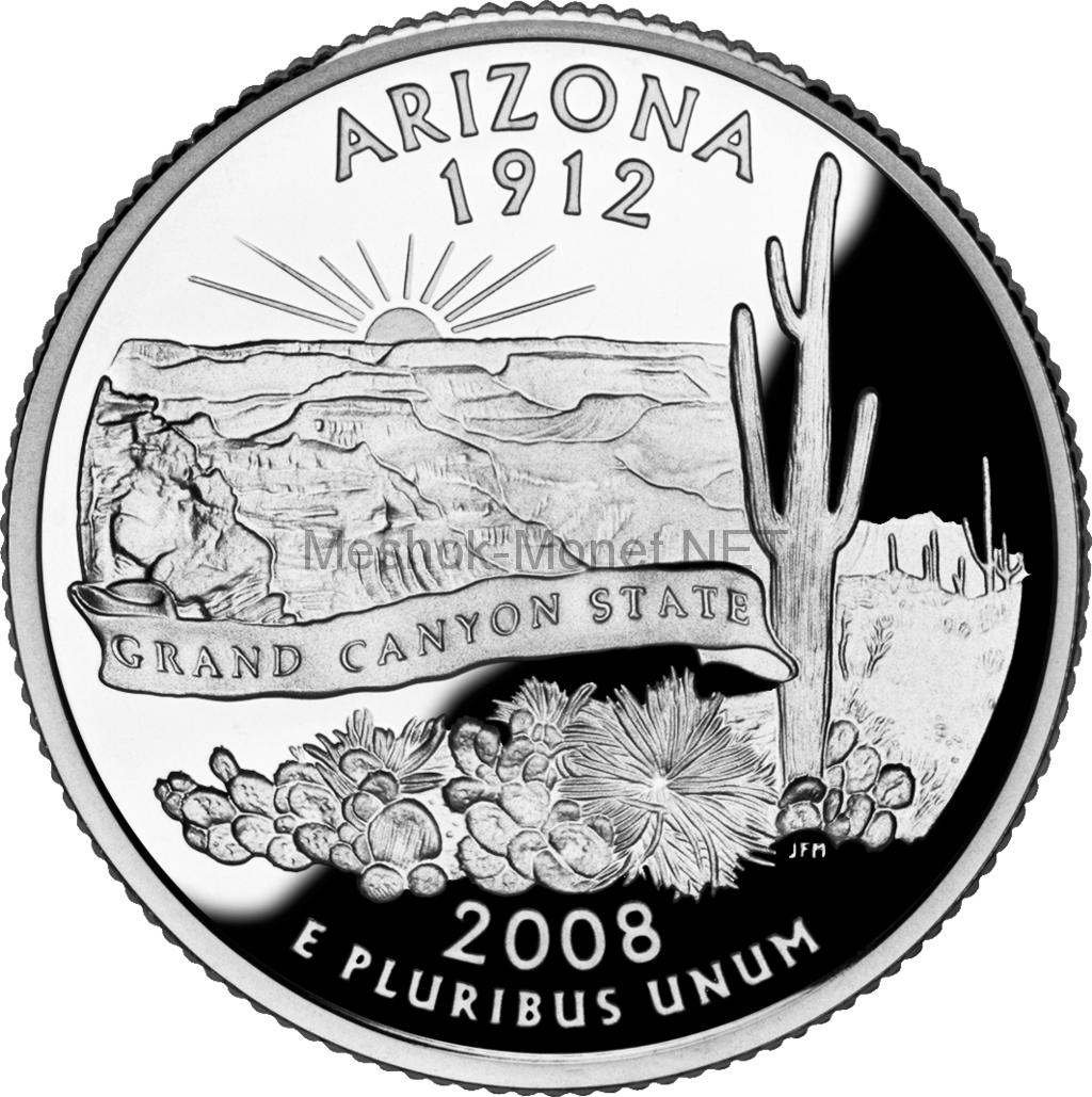 25 центов США 2008 штат Аризона