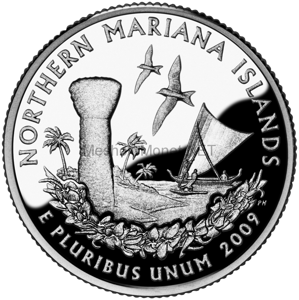 25 центов США 2009 Северные Марианские острова