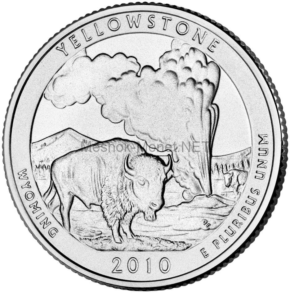 25 центов США 2010 Йеллоустонский национальный парк