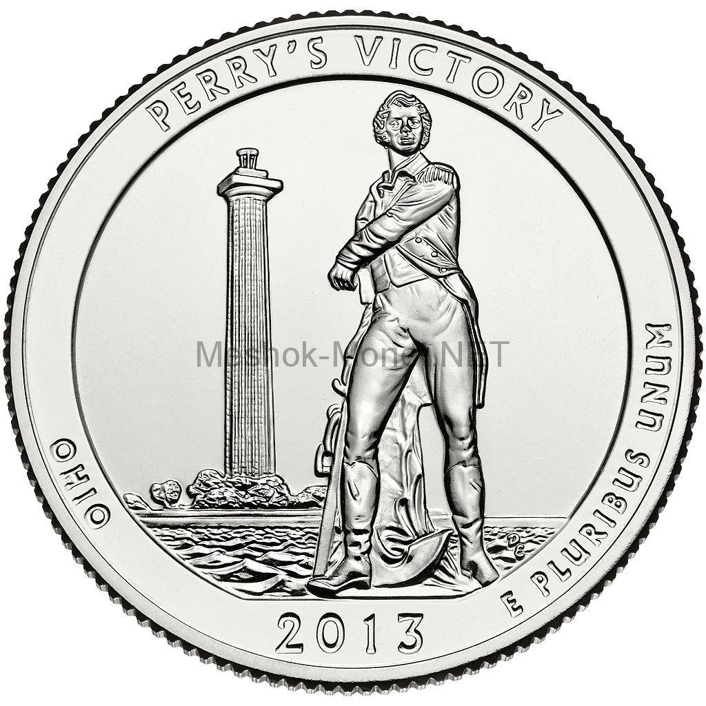 25 центов США 2013 Международный мемориал мира