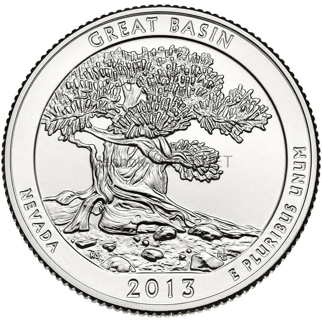 25 центов США 2013 Национальный парк Грейт-Бейсин