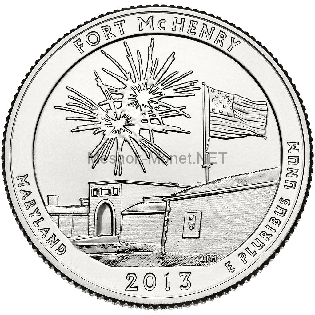 25 центов США 2013 Форт Мак-Генри