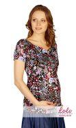 Блуза для кормления Bl001.2 огурцы на черном