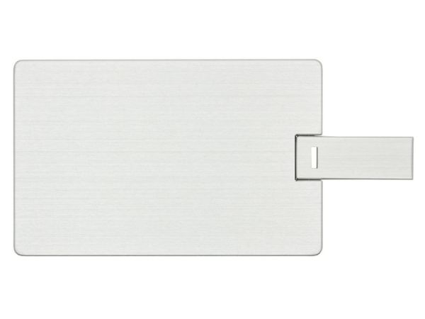 4GB USB-флэш накопитель Apexto U504EM алюминиевая кредитная карта, серебряная