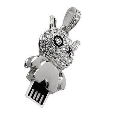 64GB USB-флэш накопитель Apexto UJ041 Чертик в стразах, серебряный